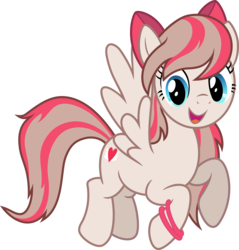 Size: 6376x6681 | Tagged: safe, artist:pink1ejack, angel wings, pegasus, pony, absurd resolution, bow, cute, diawinges, female, hair bow, happy, mare, open mouth, simple background, smiling, solo, transparent background, vector