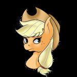 Size: 1226x1226 | Tagged: safe, artist:wulfanite, applejack, pony, bust, female, hat, head, simple background, solo, transparent background