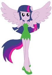 Size: 409x580 | Tagged: artist:selenaede, artist:user15432, crossover, disney, disney fairies, equestria girls, fairies are magic, fairy, fairy wings, human, humanized, ponied up, safe, simple background, solo, tinkerbell, twilight sparkle, twilight sparkle (alicorn), white background, winged humanization, wings