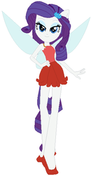 Size: 298x572 | Tagged: artist:selenaede, artist:user15432, crossover, disney, disney fairies, equestria girls, fairies are magic, fairy, fairy wings, human, humanized, ponied up, rarity, rosetta (disney), safe, simple background, solo, white background, winged humanization, wings