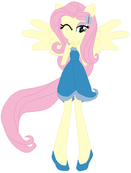 Size: 423x561 | Tagged: artist:selenaede, artist:user15432, crossover, disney, disney fairies, equestria girls, fairies are magic, fairy, fairy wings, fluttershy, human, humanized, ponied up, safe, silvermist, simple background, solo, white background, winged humanization, wings