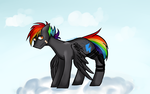 Size: 2700x1700 | Tagged: safe, artist:xanderserb, oc, oc only, pegasus, pony, full body, solo