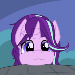 Size: 1765x1764 | Tagged: safe, artist:duop-qoub, starlight glimmer, pony, unicorn, :3, bust, cute, ear fluff, female, glimmerbetes, looking at you, mare, pet glimmer, pony pet, portrait, solo, weapons-grade cute