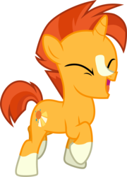 Size: 3001x4167 | Tagged: safe, artist:cloudyglow, sunburst, pony, unicorn, the cutie re-mark, absurd resolution, colt, colt sunburst, eyes closed, happy, male, simple background, smiling, solo, transparent background, vector, younger