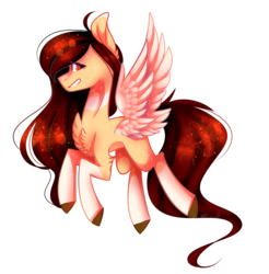 Size: 2683x2728   Tagged: safe, artist:huirou, oc, oc only, oc:yeri, pegasus, pony, chest fluff, colored wings, female, high res, mare, simple background, solo, transparent background