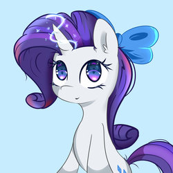 Size: 1024x1024 | Tagged: safe, artist:posionjoke, rarity, pony, unicorn, cute, female, magic, mare, simple background, solo