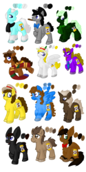 Size: 1080x2160 | Tagged: artist:usagi-zakura, doctor whooves, eight doctor, eleventh doctor, fifth doctor, first doctor, fourth doctor, male, ninth doctor, pony, reference sheet, safe, second doctor, seventh doctor, sixth doctor, stallion, tenth doctor, third doctor, time turner, war doctor