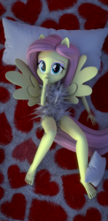 Size: 1440x2960 | Tagged: 3d, artist:creatorofpony, artist:fluttershy-ek, bed, bedroom, blender, cellphone, clothes, equestria girls, female, fluttershy, phone, pillow, ponied up, safe, smartphone, solo, wallpaper