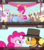 Size: 640x720 | Tagged: safe, edit, edited screencap, screencap, boneless, cheese sandwich, cloud kicker, linky, mjölna, pinkie pie, shoeshine, silver spanner, twinkleshine, pony, cinemare sins, pinkie pride, female, filly, filly pinkie pie, juggling, rubber chicken, younger