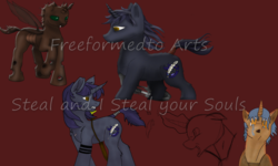 Size: 5000x3000   Tagged: safe, artist:freeformedto, oc, oc only, oc:free form, oc:tourmaline form, oc:wildcard mask, changeling, absurd resolution, amber eyes, blue mane, crying, feather, green eyes, halfling, looking back, obtrusive watermark, shadhavar, sword, tail wrap, tattoo, watermark, weapon, windswept mane