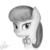 Size: 2000x2000 | Tagged: safe, artist:qbellas, octavia melody, earth pony, pony, bowtie, bust, cute, female, grayscale, mare, monochrome, portrait, redraw, simple background, solo, white background