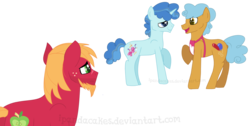 Size: 1600x804 | Tagged: artist:ipandacakes, big macintosh, older, party favor, partypop, pony, safe, simple background, transparent background, twisty pop