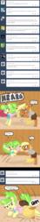 Size: 640x3500   Tagged: safe, artist:ficficponyfic, chickadee, ms. peachbottom, oc, pony, cyoa:peachbottom's quest, cyoa, tied up, tumblr