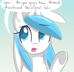 Size: 555x540 | Tagged: artist:marytheechidna, ask the console ponies, console ponies, dead source, nintendo, ponified, pony, safe, solo, wii, wii pony