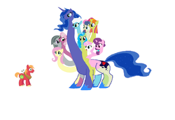 Size: 2835x1947 | Tagged: safe, artist:theunknowenone1, big macintosh, bon bon, cheerilee, fleetfoot, fluttershy, marble pie, princess luna, sugar belle, sweetcream scoops, sweetie drops, tealove, twinkleshine, hydra, hydra pony, pony, abomination, big macintosh gets all the mares, big scoops, bonmac, cheerimac, conjoined, female, fleetmac, fluttermac, fusion, lunamac, male, marblemac, multiple heads, shipping, simple background, straight, sugarmac, tea love, teamac, twinklemac, we have become one, white background, you need me