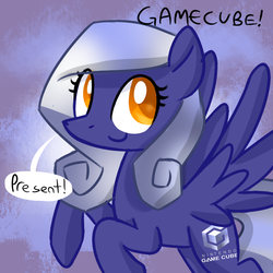 Size: 700x700 | Tagged: artist:marytheechidna, console ponies, dead source, gamecube, nintendo, ponified, pony, safe, solo