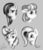 Size: 2000x2300 | Tagged: safe, artist:qbellas, coco pommel, fluttershy, marble pie, vapor trail, earth pony, pegasus, pony, bust, female, floppy ears, grayscale, mare, monochrome, signature, smiling, the council of shy ponies