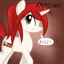 Size: 700x700 | Tagged: artist:marytheechidna, console ponies, dead source, famicom, nintendo, ponified, pony, safe, solo