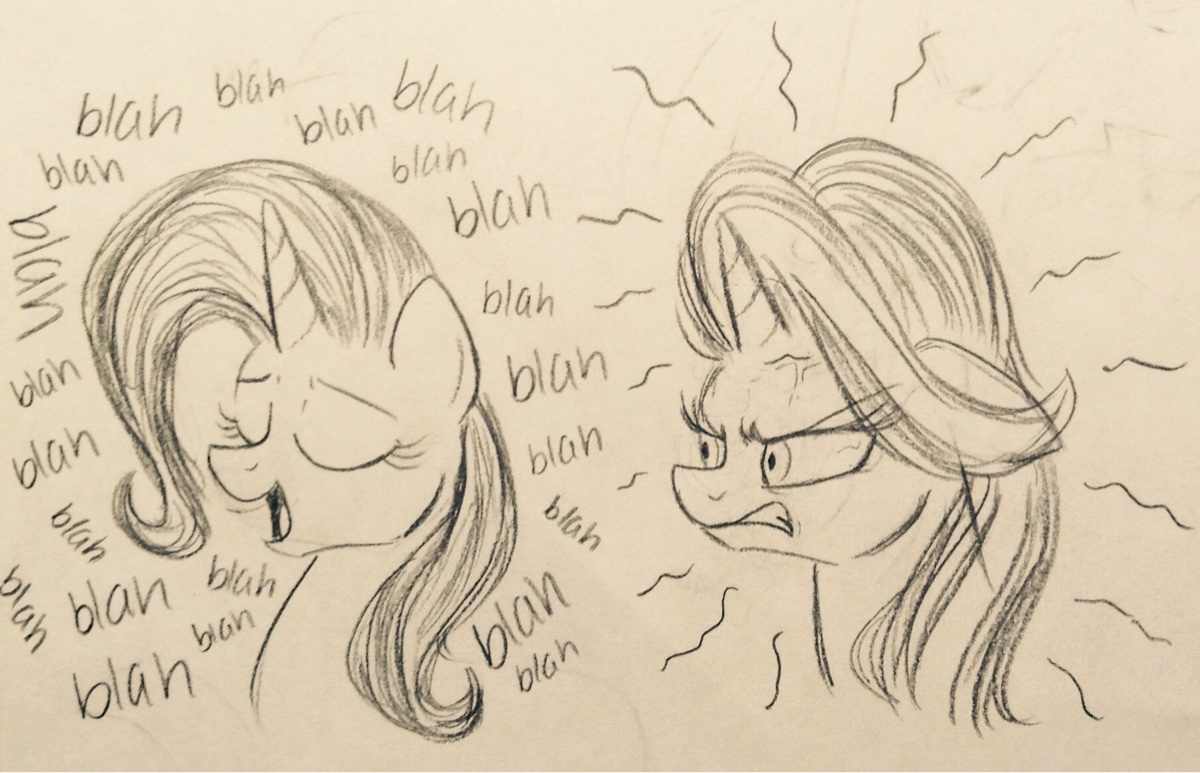 1461094 angry artistzigragirl bust cross popping veins duo eyes closed female gritted teeth mare monochrome open mouth pencil drawing pony