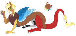 Size: 1499x715 | Tagged: artist:bijutsuyoukai, draconequus, hybrid, interspecies offspring, male, oc, oc only, offspring, parent:applejack, parent:discord, parents:applecord, safe, simple background, transparent background