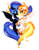 Size: 1105x1400 | Tagged: safe, artist:tomatocoup, daybreaker, nightmare moon, alicorn, pony, a royal problem, armor, chest fluff, cute, diabreaker, duo, ear fluff, eye contact, female, helmet, looking at each other, mane of fire, mare, moonabetes, simple background, transparent background