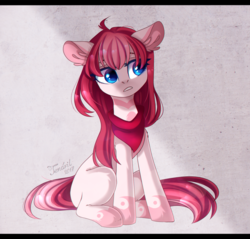 Size: 1280x1225 | Tagged: artist:ten-dril, earth pony, female, floppy ears, mare, oc, oc:amai, oc only, pony, safe, sitting, solo