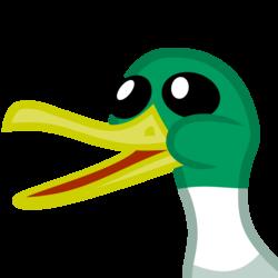 Size: 2135x2135 | Tagged: safe, duck, mallard, pony, derpibooru, badge, bust, derpibooru badge, male, meta, open beak, open mouth, portrait, simple background, transparent background