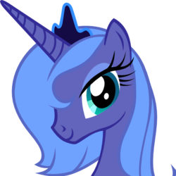 Size: 512x512 | Tagged: safe, artist:the smiling pony, derpibooru exclusive, princess luna, alicorn, pony, derpibooru, .svg available, bust, cute, derpibooru badge, eyeshadow, female, jewelry, lidded eyes, looking at you, lunabetes, makeup, mare, meta, s1 luna, simple background, smiling, solo, svg, tiara, transparent background, vector