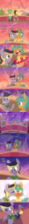 Size: 2000x15000 | Tagged: safe, artist:kryptchild, snails, oc, oc:aero, pegasus, pony, ask glitter shell, comic:when aero met glitter, absurd resolution, aeroshell, alternate hairstyle, blushing, blushing profusely, bridge, canon x oc, cheek kiss, clothes, colt, comic, crossdressing, cute, date, excited, fireworks, gay, glitter shell, headband, heart, hoodie, kissing, male, offspring, one eye closed, pantyhose, parent:derpy hooves, parent:oc:warden, parents:canon x oc, parents:warderp, scarf, shipping, skirt, skirt lift, starry eyes, stars, stockings, sunset, thigh highs, tumblr, wingding eyes, wink