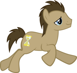 Size: 6853x6500 | Tagged: safe, artist:crusierpl, doctor whooves, time turner, pony, hearts and hooves day (episode), absurd resolution, side view, simple background, solo, transparent background, vector, vector trace