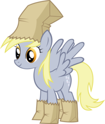 Size: 6109x7252 | Tagged: safe, artist:shadow15991, derpy hooves, pony, luna eclipsed, absurd resolution, clothes, costume, nightmare night costume, paper bag, paper bag wizard, simple background, solo, transparent background, vector, vector trace