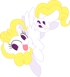 Size: 4056x4458 | Tagged: safe, artist:mochi--pon, artist:stepandy, surprise, pegasus, pony, absurd resolution, female, g1, g1 to g4, generation leap, mare, no catchlights, simple background, solo, tongue out, transparent background, vector, vector trace