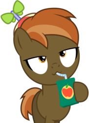 Size: 5000x6879 | Tagged: safe, artist:lahirien, button mash, earth pony, pony, button's adventures, .ai available, absurd resolution, jananimations, juice, juice box, male, simple background, straw, transparent background, vector, vector trace