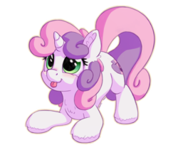 Size: 1400x1200   Tagged: safe, artist:ardail, artist:bobdude0, sweetie belle, pony, unicorn, collaboration, cute, diasweetes, female, filly, silly, silly pony, simple background, solo, tongue out, transparent background