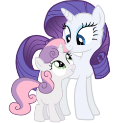 Size: 5000x5192 | Tagged: safe, artist:jennieoo, rarity, sweetie belle, pony, unicorn, sisterhooves social, absurd resolution, duo, duo female, female, filly, mare, show accurate, simple background, transparent background, vector