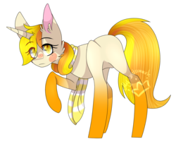 Size: 1545x1261 | Tagged: safe, artist:alithecat1989, oc, oc only, oc:vixey, pony, unicorn, blank flank, female, gradient hooves, mare, raised hoof, simple background, solo, transparent background