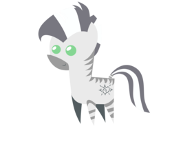 Size: 3000x2700 | Tagged: safe, artist:aborrozakale, oc, oc only, oc:xenith, zebra, fallout equestria, fanfic, fanfic art, female, high res, mare, pointy ponies, simple background, smiling, solo, transparent background, zebra oc