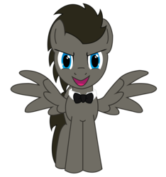 Size: 3000x3205 | Tagged: safe, artist:1992zepeda, edit, vector edit, doctor whooves, time turner, pegasus, pony, ask discorded whooves, .svg available, bowtie, discord whooves, discorded, discorded whooves, male, race swap, simple background, solo, stallion, transparent background, vector
