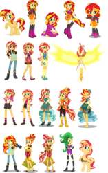 Size: 1390x2211 | Tagged: artist:osipush, barefoot, boots, camp everfree outfits, clothes, dance magic, daydream shimmer, doll, equestria girls, equestria girls minis, friendship games, high heel boots, jacket, leather jacket, legend of everfree, looking at you, mane-iac, mirror magic, movie magic, outfits, pajamas, party dress, ponied up, pony, pony ears, rainbow rocks, safe, simple background, solo, spoiler:eqg specials, sunset shimmer, super ponied up, toy, transparent background, vector