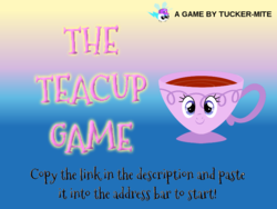 Size: 800x600 | Tagged: safe, artist:trini-mite, starlight glimmer, oc, oc:tucker-mite, pony, twittermite, cup, game, inanimate tf, solo, teacup, teacupified, the teacup game, transformation