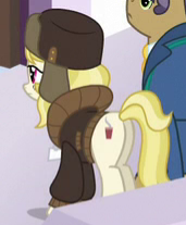 Size: 171x207 | Tagged: safe, screencap, march gustysnows, earth pony, pony, princess spike (episode), cropped, duo, female, male, mare, plot, stallion