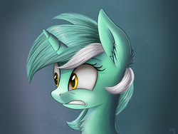 Size: 2000x1500 | Tagged: safe, artist:atlas-66, lyra heartstrings, pony, unicorn, female, looking at something, mare, shocked, solo