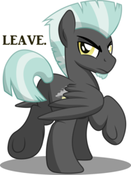 Size: 6900x9198 | Tagged: safe, artist:drawponies, artist:gray-gold, thunderlane, pegasus, pony, .svg available, absurd resolution, annoyed, male, plot, simple background, solo, stallion, thunderbutt, transparent background, unamused, underhoof, vector, vector trace