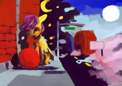 Size: 2480x1754 | Tagged: safe, artist:toisanemoif, scootaloo, pegasus, pony, female, filly, solo