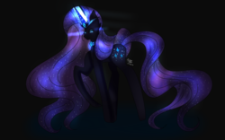 Size: 1280x800 | Tagged: artist:sofy0304, crown, eyeshadow, galaxy mane, jewelry, makeup, necklace, nightmare rarity, one hoof raised, rarity, regalia, safe, solo, unicorn