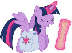 Size: 1445x1080 | Tagged: alicorn, artist:iknowpony, flying, magic, saddle bag, safe, scroll, simple background, smiling, solo, .svg available, the hooffields and mccolts, transparent background, twilight sparkle, twilight sparkle (alicorn), vector