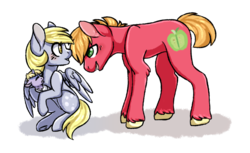 Size: 1024x628 | Tagged: safe, artist:benji-boi, big macintosh, derpy hooves, dinky hooves, earth pony, pegasus, pony, unicorn, baby, baby pony, derpymac, female, male, mare, parents:derpymac, shipping, simple background, stallion, straight, transparent background
