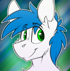 Size: 639x648 | Tagged: source needed, safe, artist:ralek, oc, oc only, oc:math millien, pony, abstract background, avatar, bust, flat colors, icon, male, portrait, smiling, solo, stallion