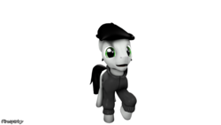 Size: 1024x576 | Tagged: 3d, artist:firesparky, clothes, earth pony, male, oc, oc:rapster light, pony, safe, solo, stallion