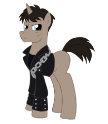 Size: 1800x2057 | Tagged: artist:edcom02, artist:jmkplover, clothes, ghost pony rider, ghost rider, jacket, johnny blaze, leather jacket, marvel, nicolas cage, ponified, pony, safe, simple background, transparent background, unicorn